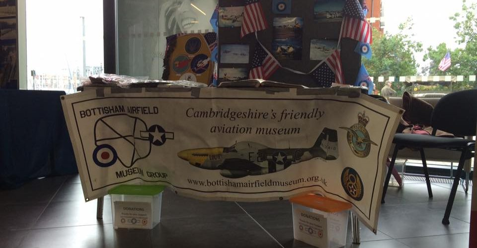 The Bottisham Airfield Museum stall at the 8th in the East Festival.